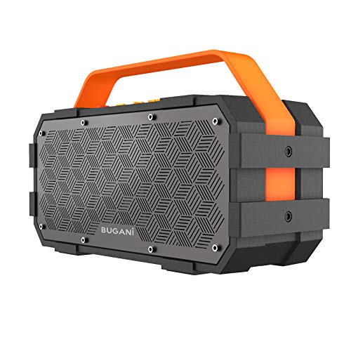 Bluetooth Speaker, Bugani M90 Portable Bluetooth Speaker with 30W Stereo Sound and Deep Bass,Long-Term Playback,Bluetooth 5.0, Support TF Card/AUX, Built-in Mic, for Home.