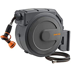 commercial Giraffe 1/2 x 130ft retractable garden hose reel, very heavy, any length, slow… water hose reel