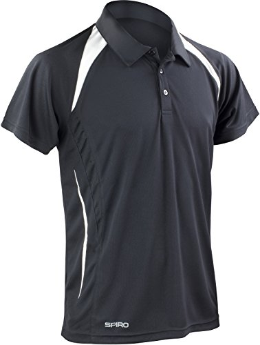 Result Cool-Dry Funktions-Poloshirt Team Spirit S177M, Farbe:Black/White;Größe:XL