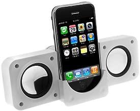 White Portable Folding Stereo Mini Speaker for Microsoft Zune 120GB, Zune 16GB, Zune 80GB, Zune 4GB 8GB, Zune 30GB, Zune HD 32 GB, Zune HD 16 GB By GTMax