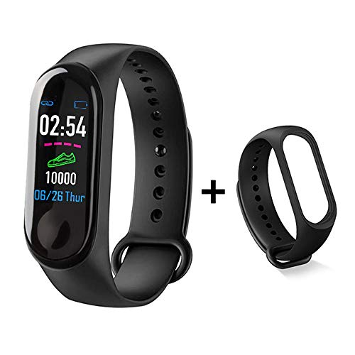 ZQINY Fitness Tracker Activity Tracker met hartslagmeter, stappenteller, 8 sportmodi, calorieënteller, slaapmonitor, IP68 waterdichte armband voor Android en iPhone, A