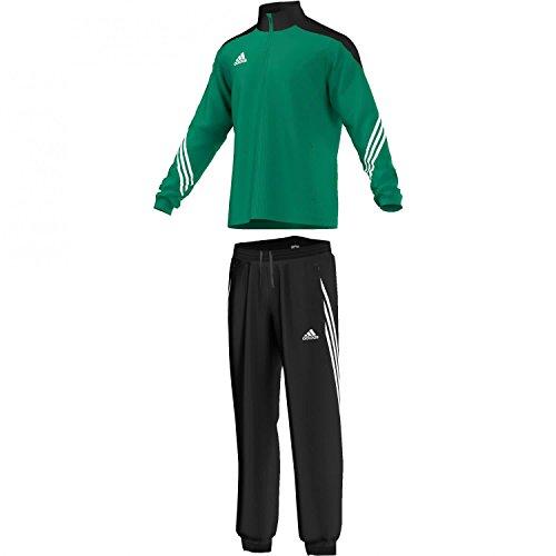 Adidas, Tuta sportiva da allenamento Sereno 14 Uomo, Verde (Twilight Green/Black/White), S