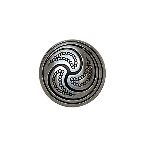 Leather Craft Art Tack Belt Biker Conchos Celtic Engraved Conchos screwback Pack of 10 PCS, (Antique Silver - 1')