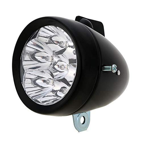 NOLOGO Yg-ct Wasserdicht 7 LED Metall Shell Fahrradlampe Retro Vintage MTB Fahrrad Frontscheinwerfer Fahrrad Frontleuchte Zubehör (Farbe : Schwarz)