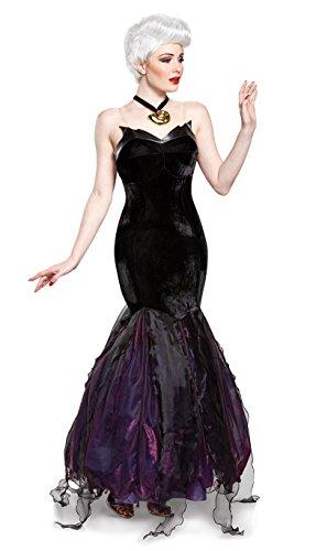 Disney Damen Ursula Prestige Kostüm für Erwachsene - Schwarz - X-Large (18-20) US