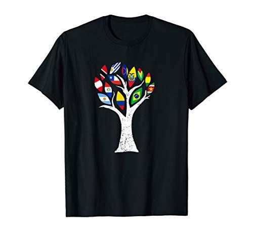 Südamerikanische Karte Länder Flagge Pride Perfekt Geschenk T-Shirt