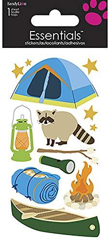 Sandy Lion Camping Sammelalbum Essentials Aufkleber, Groß
