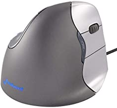 Evoluent VM4R VerticalMouse 4 Right Hand Ergonomic Mouse with Wired USB Connection (Regular Size) (Renewed)