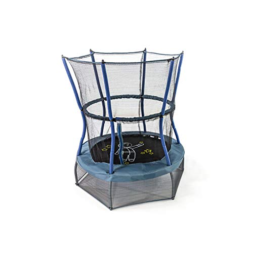Skywalker Trampolines Space Explorer Mini Trampoline, 48 - Inch, Dark Blue/Grey with Astronaut