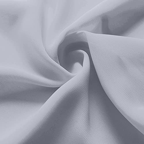 AW BRIDAL Chiffon Fabric by The Yard Solid Fabric for Sewing Premium Chiffon Fabric Cloth for Dresses, Dusty Lavender
