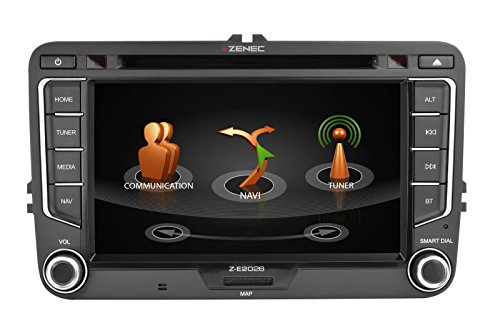 ZENEC Z-E2026 E>GO Naviceiver für die VW Golf VI Plattform DAB+ Bluetooth USB iPhone EU-Kartennavigation