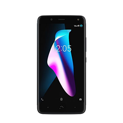 "BQ Aquaris V - Smartphone de 5.2"" (WiFi, Qualcomm Snapdragon 435 Octa Core, 4 GB de RAM, Memoria Interna de 64 GB, cámara de 12 MP, Android 7.1.2 Nougat) Color Negro (Deep Black)"