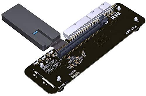 ADT-Link M.2 Key M Soporte de Soporte de Tarjeta gráfica Externa NVMe con PCIe3.0 X4 a Thunderbolt 3 Cable Vertical PCI-Express Cable Adaptador Adaptador EGPU 32Gbs para portátil ITX STX NUC (25CM)