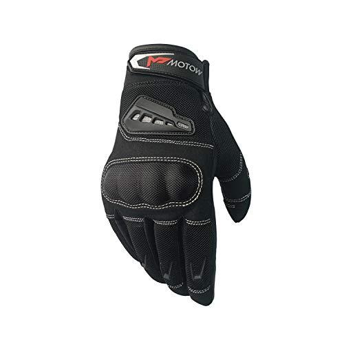 MOTOW Motorcycle Gloves - Dirt Bike, ATV Riding, Biking, Racing, Sports, Mountain Climbing Gear for Men, Women - Breathable, Ergonomic, Touchscreen-Friendly Thumb, Index Fingertip - 2X Large, Black
