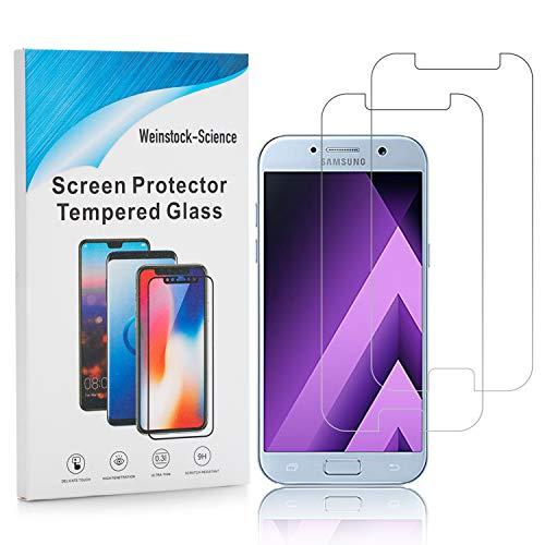 Weinstock-Science | 2X bruchsicheres Schutzglas für Samsung Galaxy A5 2017 | Schutzfolie aus 9H Echt Glas