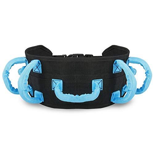 REAQER Cinturón de Transferencia con Bucles Gait Cinturón de Transferencia de Seguridad Médica para Pacientes Mayores y Discapacitados ✅