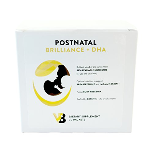 Postpartum Multivitamins for Nursing/Breastfeeding Mom, Increase BreastMilk Supplements, Methylfolate B-Vitamins D3 Calcium + DHA. Vibrant Beginning Postnatal - 30 Packets