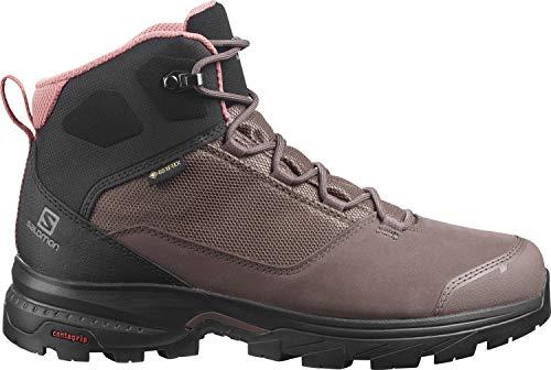 Salomon Outward GTX Zapatillas Impermeables De Senderismo Trekking Mujer, Marrón (Peppercorn/Black/Brick Dust), 42 EU