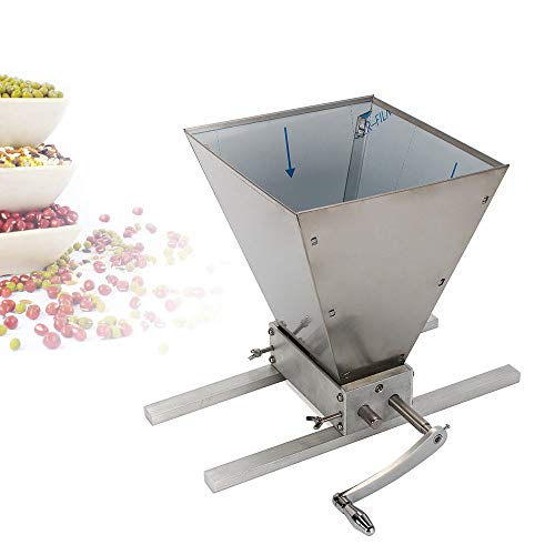 Malzmühle LFJD mit zwei Edelstahl Rollen,verstellbare Getreidemühle Heimbrauer Schrotmühle Crusher Brewer Mühle
