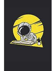 Astronauta con libro: Lindo austronauta lee libros en el espacio libreta de regalos forrada (formato A5, 15, 24 x 22, 86 cm, 120 páginas)