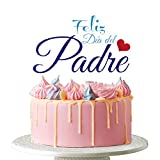 Dalaber Acrylic Happy Father's Day Cake Topper - Feliz Cumpleanos Papa, Cupcake Topper for Birthday Father's Day Cake Party Decoration