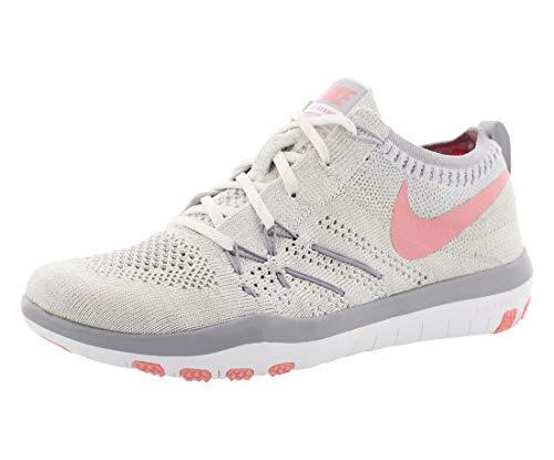 Nike W Nike Free Tr Focus Flyknit - white/bright melon-wolf grey, Größe:10