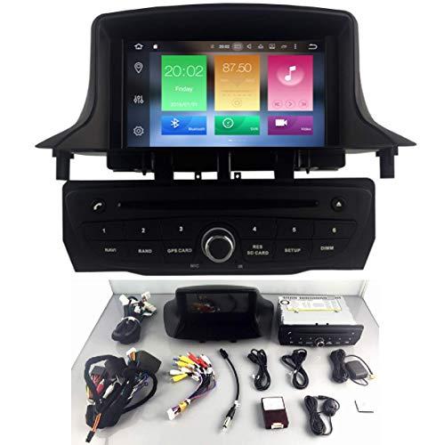 KasAndroid AUTORADIO Android 10.0 Compatible con Renault Megane III/Fluence Quad Core 2GB RAM 16GB ROM GPS Radio Coche DVD WiFi 4g navi navegador AÑO:2009 2010 2011 2012 2013 2014 (Negro)