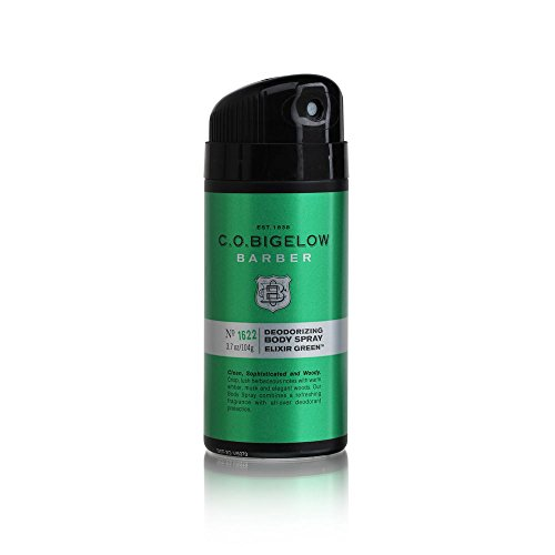 C.O. Bigelow Barber Deodorizing Body Spray - Elixir Green - No. 1622, 3.7 Ounce