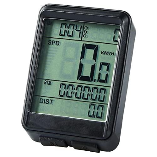 Bike Speedómetro inalámbrico Impermeable MTB Ciclismo odómetro Cronómetro Seguimiento de Velocidad, Accesorios para Bicicletas