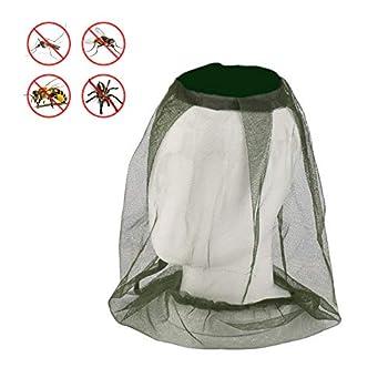 4 Pack Moustiquaires Filet de Tête de Moustique, Protection de Tête Filet Protecteur du Visage Anti Moustique pour Camping en Plein Air Filet de Chapeau de Pêche
