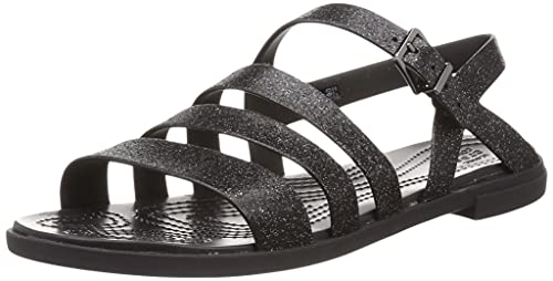 CROCS - Tulum Glitter Sandal - Black Glitter Black, Tamaño:38/39 EU