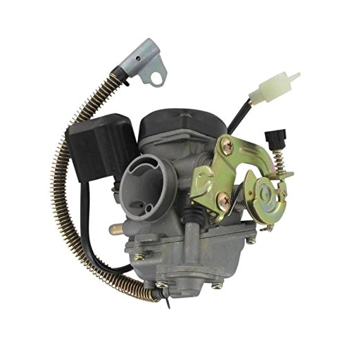 Xfight-Parts carburateur 19 mm met kunststof deksel en E-choke compleet standaard CVK PD18J (HD84) 4-takt 50 ccm 139QMA/QMB REX RS 450 OFF-LIMIT Tribal-Scooter Capriolo 50