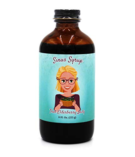 That Elderberry Lady Sinus Syrup with Honey - Organic and All Natural Ingredients - Homeopathic Remedy for Respiratory and Allergy Support with Antioxidant Immune Protection for Kids and Adults (8 oz)