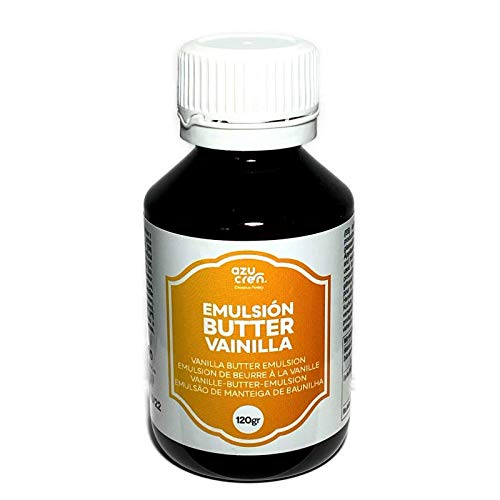 Emulsión para Repostería - Aporta Aroma y Sabor a tus Tartas, Bizcochos y Galletas - 120 Gramos (Butter Vainilla)