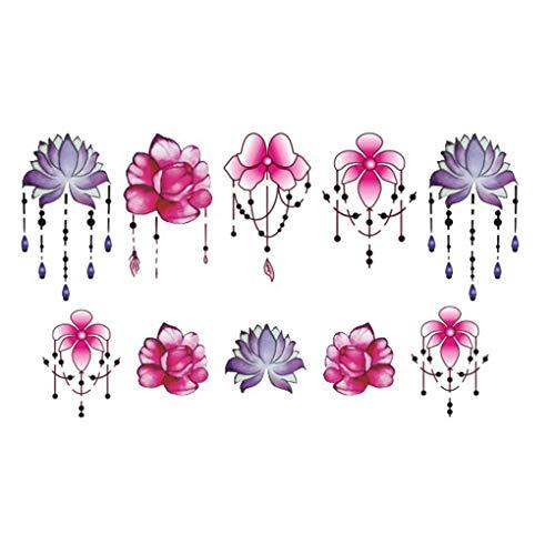 Vokmon Nail Mujeres Flor de Las Muchachas Pegatinas Colgante 3D Nail Art Stickers Tips de la Etiqueta de la joyería DIY de manicura Tatuajes