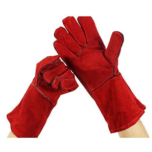 ZhuFengshop handschoenen Gauntlets Heavy Duty lashandschoenen & hittebestendige handschoenen voor mannen & vrouwen bevroren koude opslag handschoenen, gebruikt voor open haard Oven industriële handschoenen beschermende handschoenen, werk, boerderij