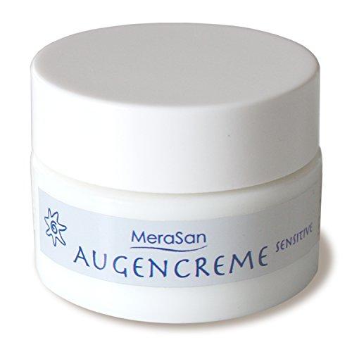 MeraSan Augencreme SENSITIVE 15ml - parfümfreie Augenpflege-Creme mit Macadamianussöl und Rügener Heilkreide - vegane Naturkosmetik