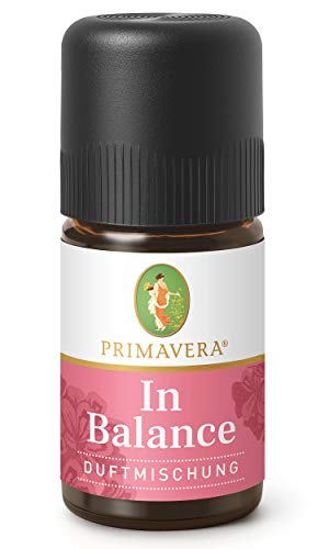 PRIMAVERA Duftmischung In Balance 5 ml - Rose, Orange und Rosengeranie - Aromaöl, Duftöl, ätherisches Öl Aromatherapie - ausgleichend - vegan