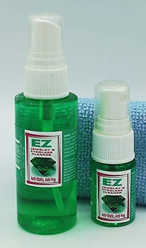 GEM, JEWELRY, EYEGLASS CLEANER KIT (2oz+0.5oz+FREE MICROFIBER) BEST ON THE MARKET