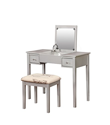 Linon Vanity Set, Metallic