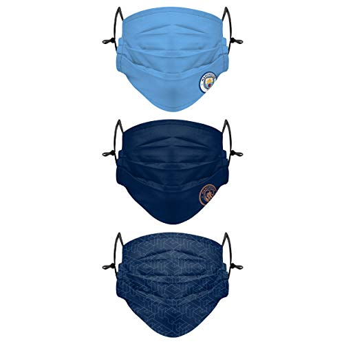 Forever Collectibles UK Football Manchester City FC Premier League 3 Pack of Face Covers