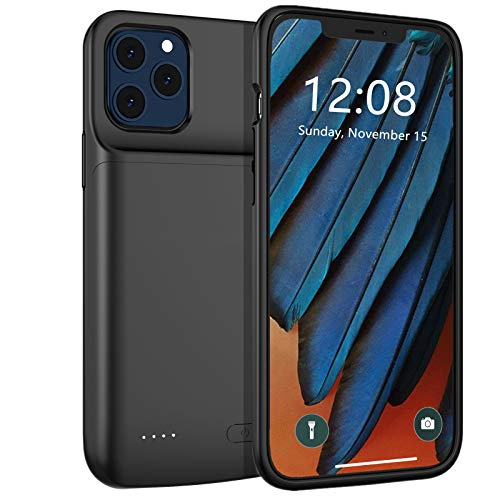 Beseller Battery Case for iPhone 12 Pro & iPhone 12, 4800mAh Slim Rechargeable Battery & Raised Bezel, Fully Charging & Protective Battery Case for iPhone 12 Pro & iPhone 12 (6.1 inches)