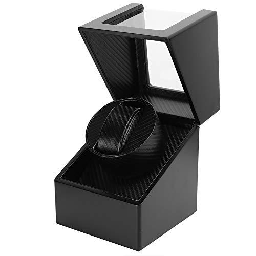Caja de enrollador de reloj automático individual,caja de presentación compacta de enrollador de reloj de cuero de PU,motor súper silencioso,alimentado por batería y adaptador de CA para hombre(EU)