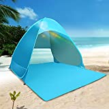 Pallus Pop Up Beach Tent for 1-3 Person Automatic Portable UPF 50+ UV Protection Baby Sun Shade Windproof Sun Shelter with 6 Tent Pegs for Outdoor Family Picnic Fishing Camping Beach Home Garden