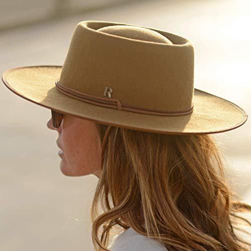 RACEU ATELIER Sombrero Billy Camel Raceu Atelier - 100% Fieltro de Lana - Resistente al Agua - Ala 7cm - Sombreros Mujer Hombre Unisex Invierno