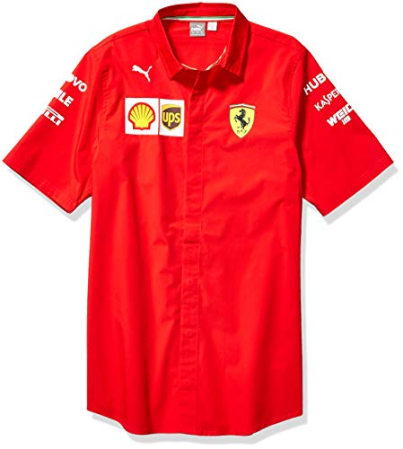 PUMA Herren Scuderia Ferrari SF Team Shirt Hemd, Rosso Corsa-Without Mw Logo, Medium
