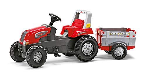 Rolly Toys 800261 - Trettraktor / rollyJunior RT Traktor (inkl. rollyFarm Trailer, verstellbarer Sitz, Flüsterlaufreifen)