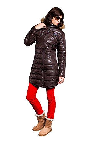 Nebulus Mantel WINTERMANTEL Chamonix, Damen, braun, Jacke, Größe L/40 (Q645)