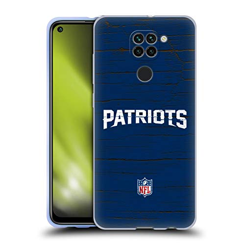 Head Case Designs Oficial NFL Aspecto Angustiado Logo de los Patriotas de Nueva Inglaterra Carcasa de Gel de Silicona Compatible con Redmi Note 9 / Redmi 10X 4G