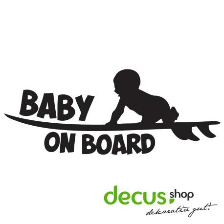 Decus Baby on Board Surfboard // Sticker OEM JDM Style Aufkleber